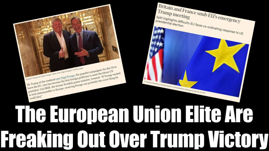 European Union Elite Are Freaking Out Over Trump Victory