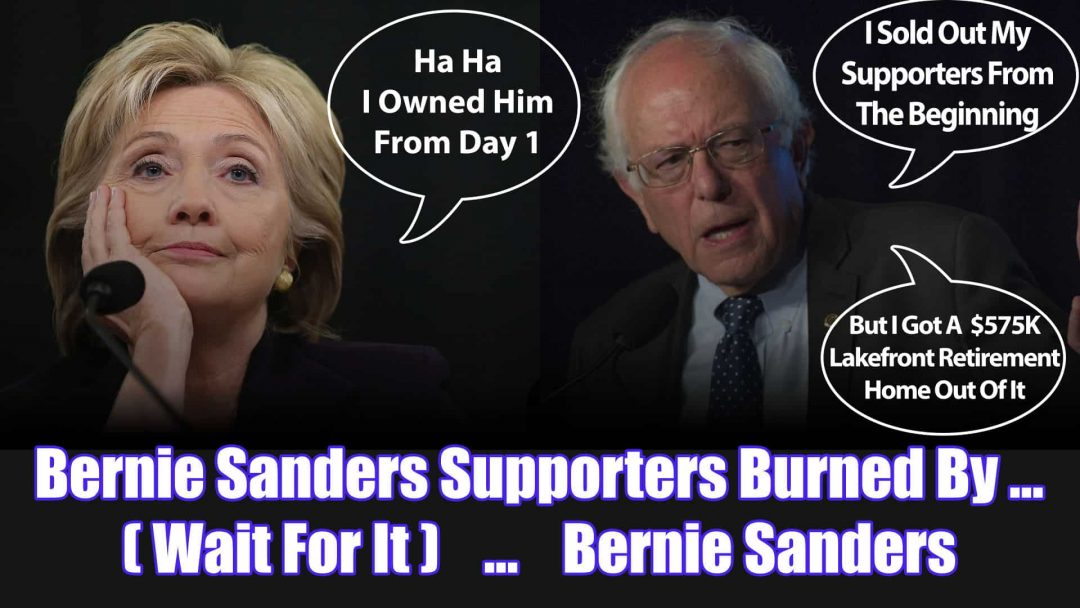 Bernie Sanders Supporters Burned By ... Bernie