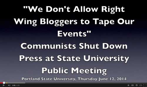 We Don't Allow Right Wing Bloggers To Tape Our Events