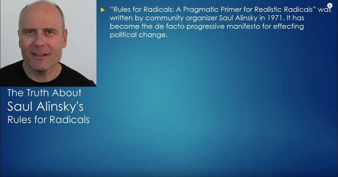 The Truth About Saul Alinsky's Rules For Radicals - Stephan Molyneux